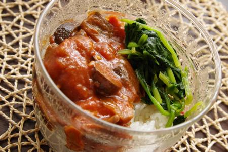 豚肉となすのカレートマト煮弁当
